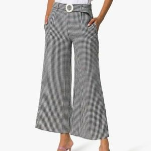 Solid & Striped gingham wide leg pants NWT M